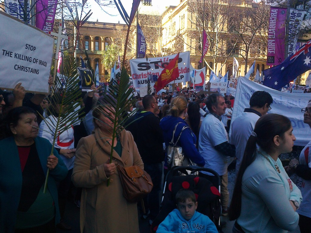 Iraqi Christians Crisis in Mosul-Protest-Sydney1