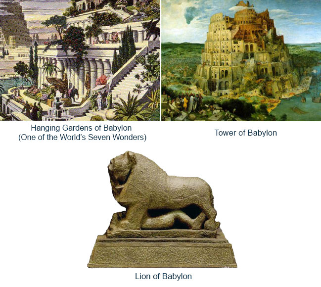 Ancient Babylon landmarks