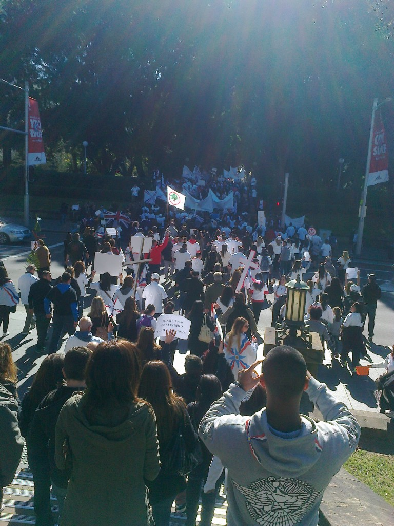 Iraqi Christians Crisis in Mosul-Protest-Sydney5