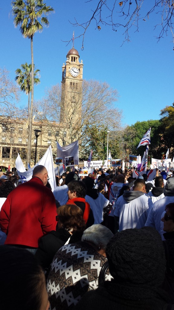 Iraqi Christians Crisis in Mosul-Protest-Sydney6