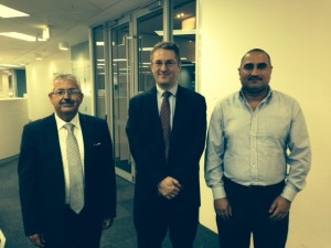 Mr Younan Yousif and Dr Emad Arabo (Chaldean Australian Society) with Mr Daniel Boyer, Assistant Secretary, Humanitarian Branch, DIBP